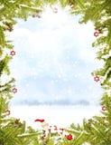 Het frame van Kerstmis royalty-vrije stock afbeeldingen