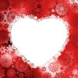 Het frame van Kerstmis in de vorm van hart. EPS 8 Stock Foto