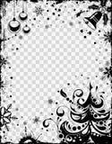 Het frame van Kerstmis en van het Nieuwjaar stock foto's
