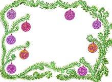 Het frame van Kerstmis en van het Nieuwjaar Royalty-vrije Stock Afbeeldingen