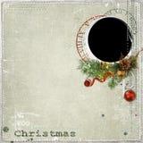 Het frame van Kerstmis met decoratie Stock Afbeeldingen