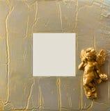 Het frame van Kerstmis met engel royalty-vrije stock afbeelding