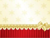 Het frame van Kerstmis op rode muur Stock Foto