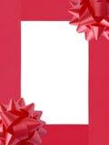 Het Frame van Kerstmis van Ribbons&Bows (+clipping weg, XXL) Stock Foto's