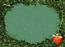 Het frame van Kerstmis voor foto en video. Rood hart stock illustratie