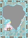 Het frame van kinderen voor de jongen met hart. Royalty-vrije Stock Fotografie