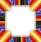 Het Frame van kleurpotloden (JPG+EPS) Stock Afbeelding
