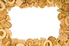 Het frame van koekjes stock foto