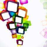 Het frame van kubussen achtergrond Royalty-vrije Stock Fotografie