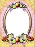 Het frame van Oktoberfest van het fruit Stock Fotografie
