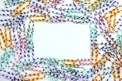 Het frame van Paperclips Royalty-vrije Stock Foto's