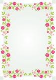 Het Frame van rozen en van harten Stock Illustratie