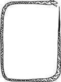 Het frame van Snake´s Stock Afbeelding