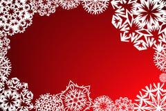 Het frame van sneeuwvlokken Stock Afbeeldingen