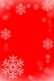 Het frame van sneeuwvlokken stock foto's