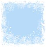 Het frame van sneeuwvlokken royalty-vrije illustratie