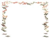 Het frame van speelkaarten Stock Foto's