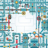 Het frame van Steampunk vector illustratie