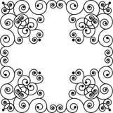 Het frame van Swirly Stock Afbeeldingen