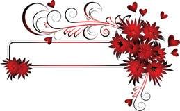 Het frame van valentijnskaarten stock illustratie