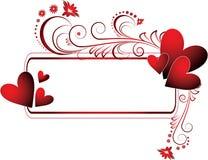 Het frame van valentijnskaarten royalty-vrije illustratie