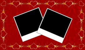 Het frame van valentijnskaarten Stock Foto's