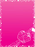 Het frame van valentijnskaarten Royalty-vrije Stock Afbeelding