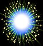 Het frame van vallend sterren stock illustratie