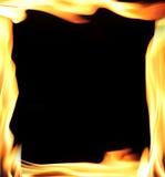 Het frame van vlammen, Stock Afbeeldingen