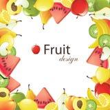 Het frame van vruchten royalty-vrije stock afbeeldingen