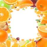 Het frame van vruchten Stock Foto