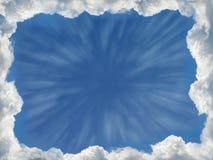 Het frame van wolken Stock Foto