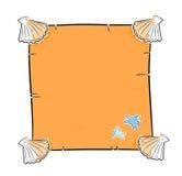 Het frame van zeeschelpen Stock Afbeelding
