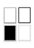 Het frame van zegels rand of pensionair Stock Foto's