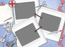 Het frame voor behandeling, krijgt en voor artsen terug. Royalty-vrije Stock Foto
