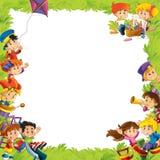 Het frame voor miscgebruik - met mensen in verschillende leeftijd - klein - tiener - voor kinderen Stock Foto