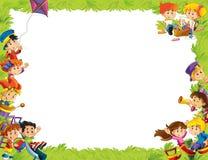 Het frame voor miscgebruik - met mensen in verschillende leeftijd - klein - tiener - voor kinderen Stock Afbeeldingen