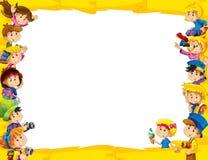 Het frame voor miscgebruik - met mensen in verschillende leeftijd - klein - tiener - voor kinderen Stock Fotografie