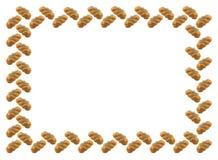 Het frame wordt gemaakt van wit gevlecht brood met een papaver. Stock Afbeelding