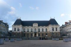 Het Franse architectuurparlement van Bretagne royalty-vrije stock foto's