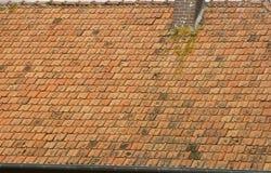 Het Franse dak van de Tegel Royalty-vrije Stock Afbeelding