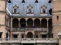 Het Franse die kasteel van de Renaissancestijl in Goluchow, Polen wordt gevestigd stock fotografie