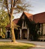 Het Franse Huis van de Bus van het Land royalty-vrije stock afbeelding