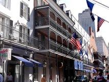 Het Franse Kwart New Orleans een stad van Louisiane op de Rivier van de Mississippi, dichtbij de Golf van Mexico royalty-vrije stock afbeeldingen