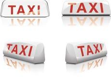 Het Franse Teken van de Taxi Stock Afbeeldingen