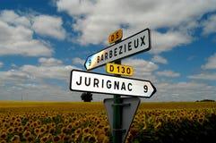 Het Franse Teken van het Land Stock Fotografie