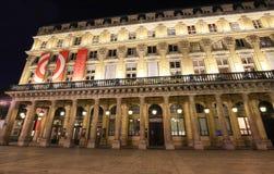 Het Franse Theater - Comedie Francaise, oudste nog-actief theater in de wereld, kent ook als Huis van Moliere en stock afbeeldingen