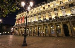 Het Franse Theater - Comedie Francaise, oudste nog-actief theater in de wereld, kent ook als Huis van Moliere en royalty-vrije stock afbeelding