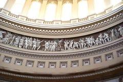 Het fries van de het Capitoolkoepel van de V.S. stock afbeeldingen