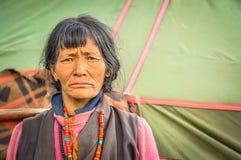 Het fronsen gezicht in Nepal Royalty-vrije Stock Afbeelding